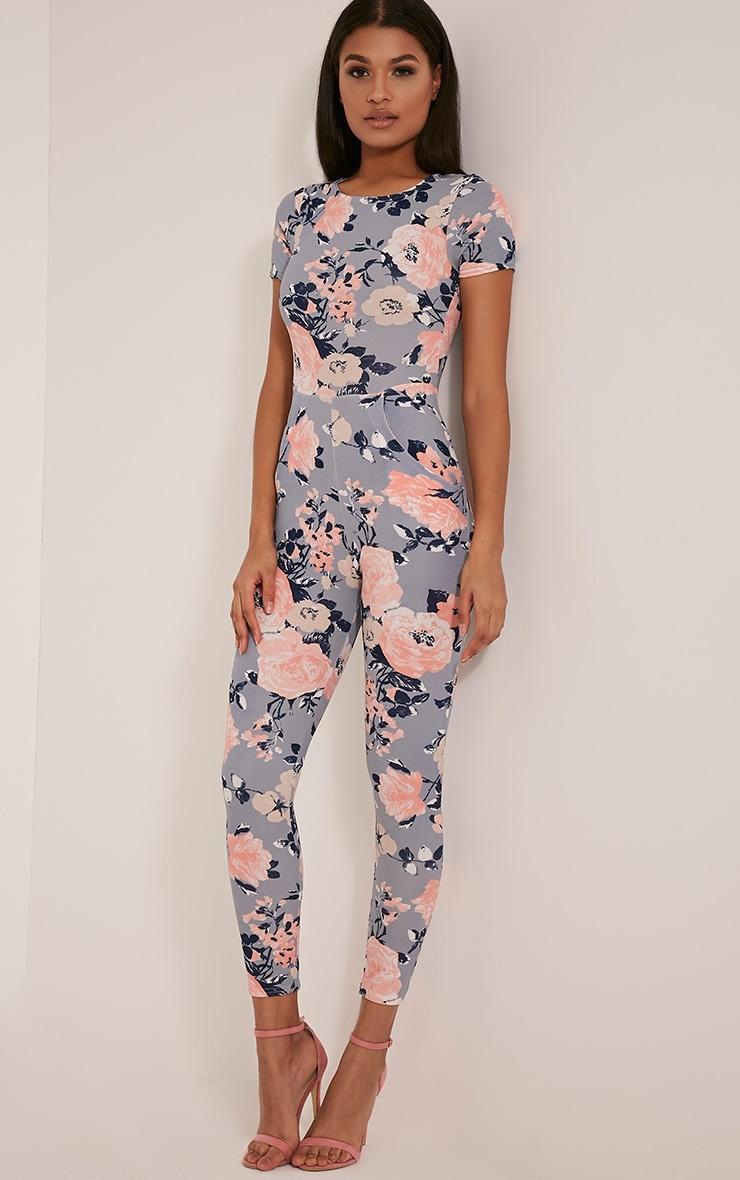 Rachel Blue Floral Printed Jumpsuit 5