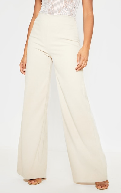 Stone Faux Suede Wide Leg Trousers