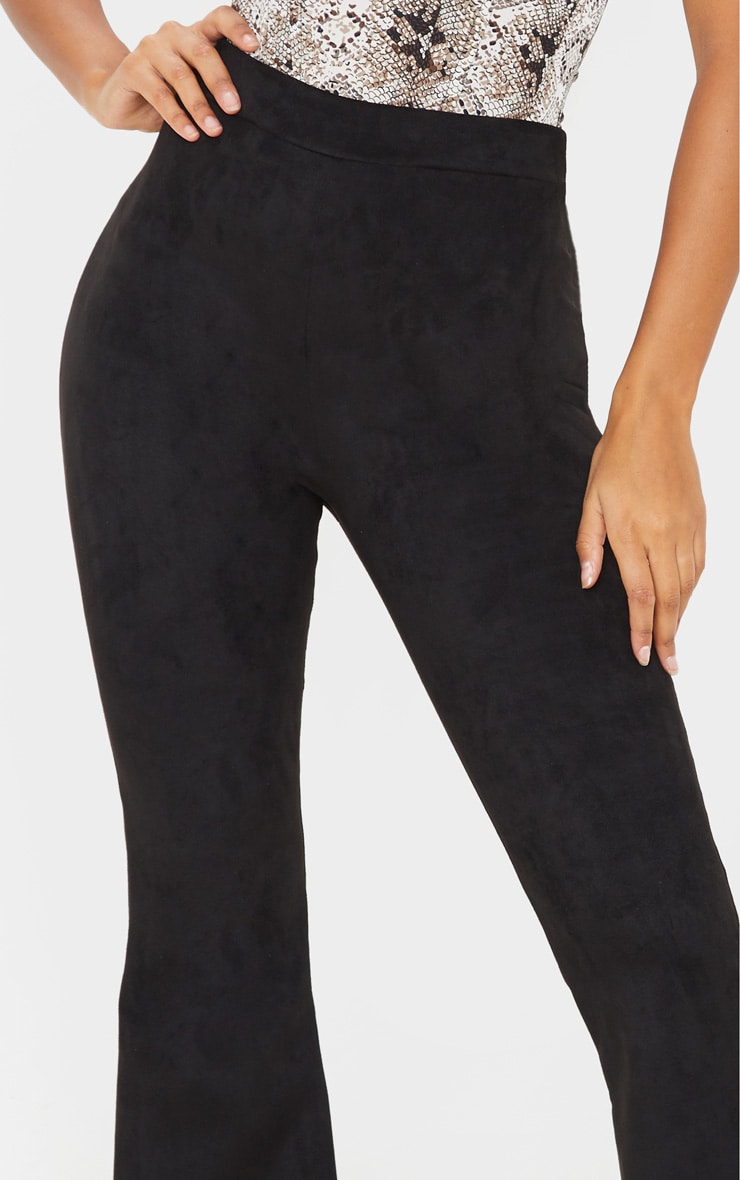 Black Faux Suede Flare  5