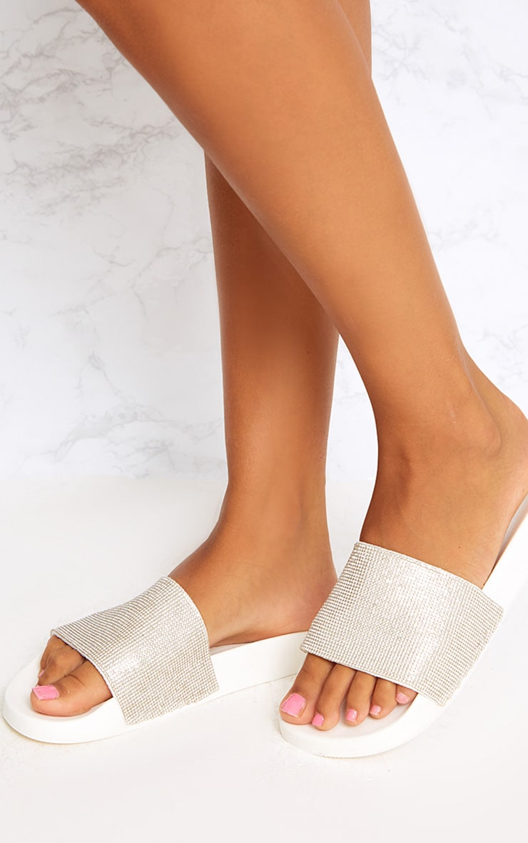 White Diamante Sliders 2