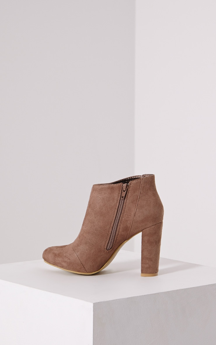 Roux Mocha Suede Ankle Boot 4