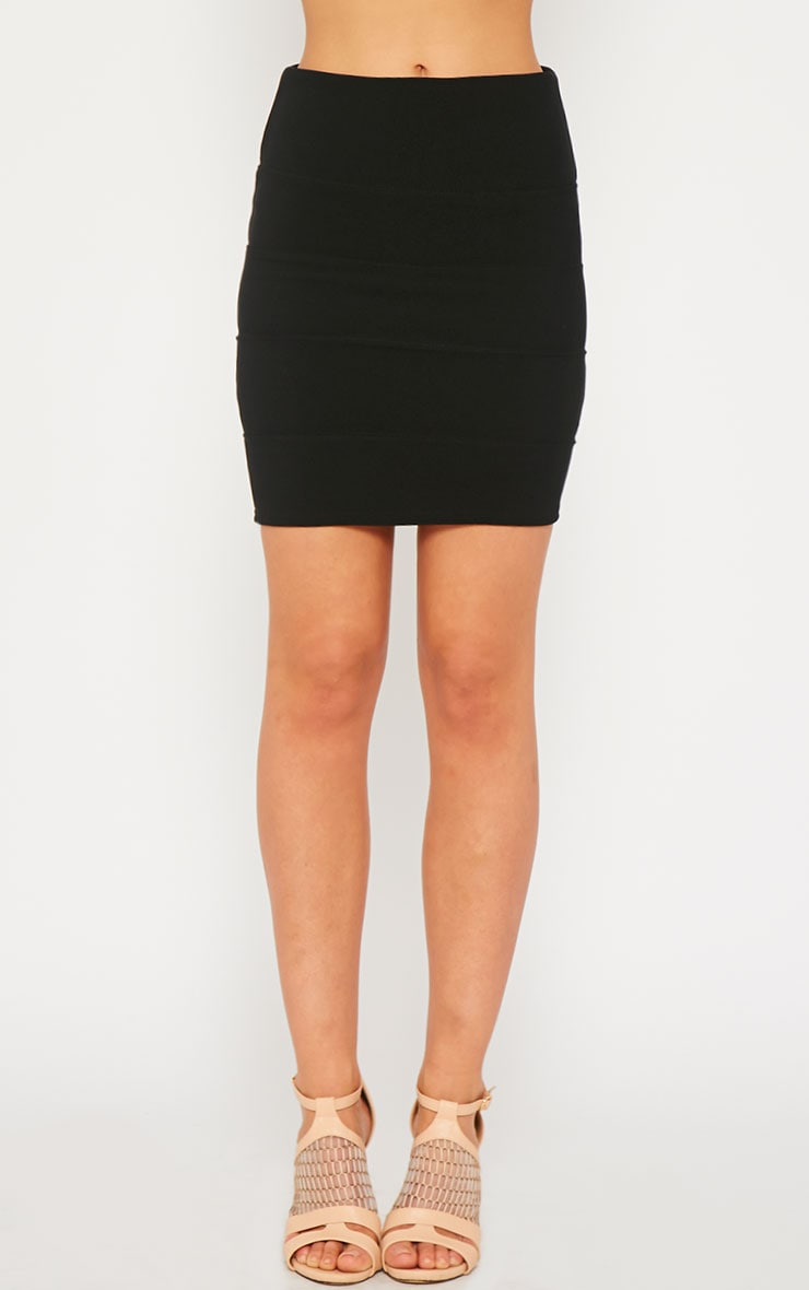 Anel Black Bandage Mini Skirt  2