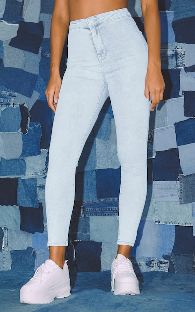 PRETTYLITTLETHING Bleach Wash Disco Skinny Jean