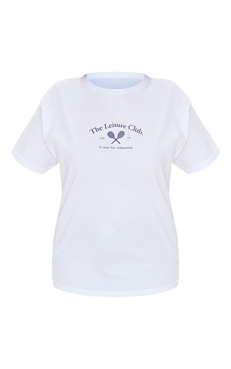 Plus White Leisure Club T Shirt 5