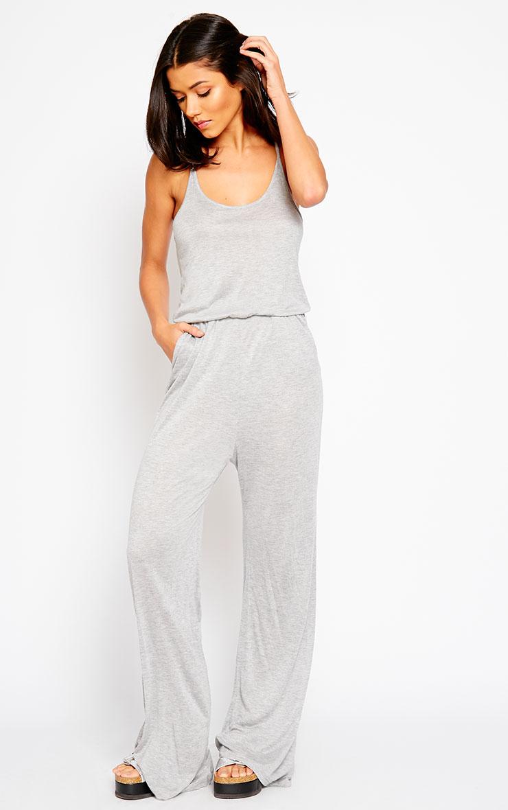 Esme Grey Jersey Wide Leg Jumpsuit 4