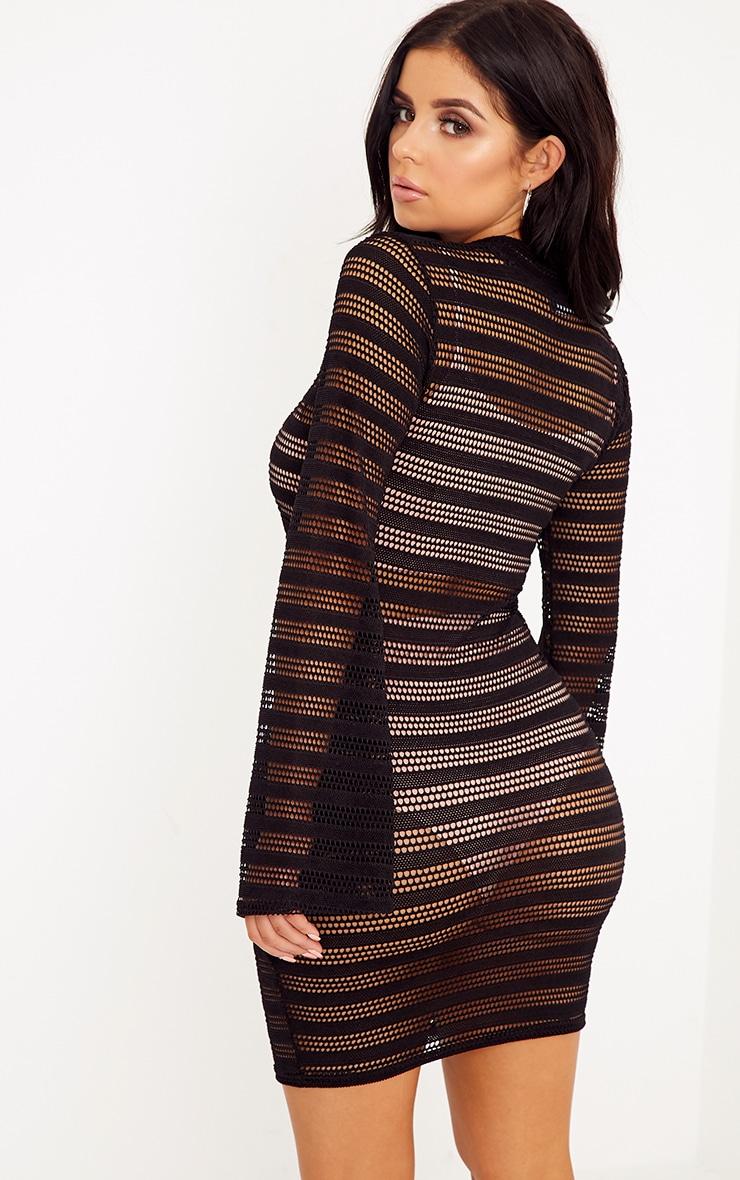 Shape Reginah Black Sheer Lace Bodycon Dress 2