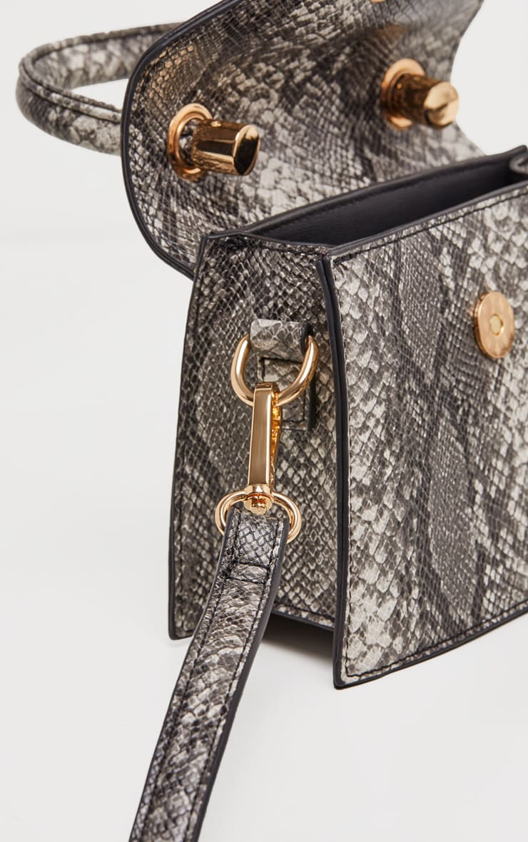Grey Snake Envelope Mini Bag 3