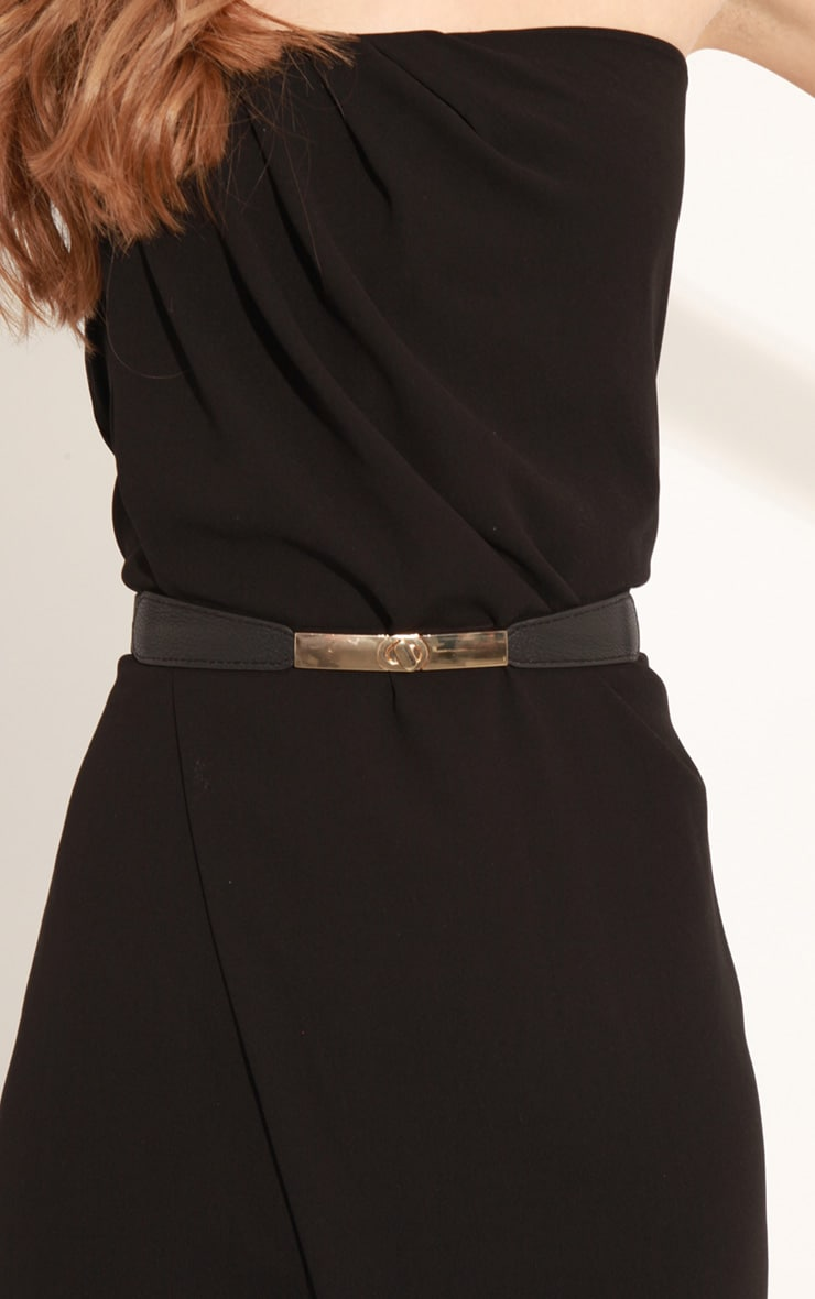 Ellie Black Strapless Jumpsuit With Belt 5