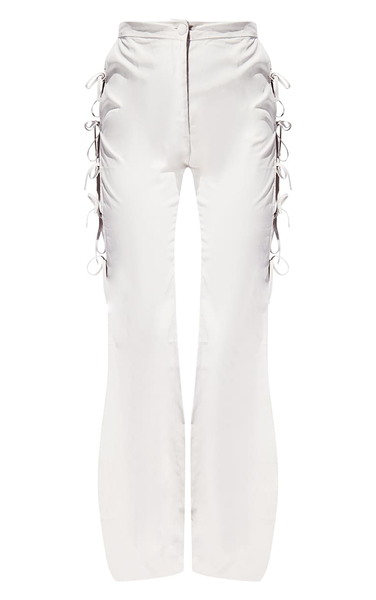 Stone Lace Up Detail Flared Pants 5