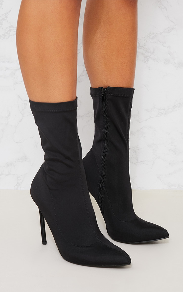 Black Lycra Sock Boot 4