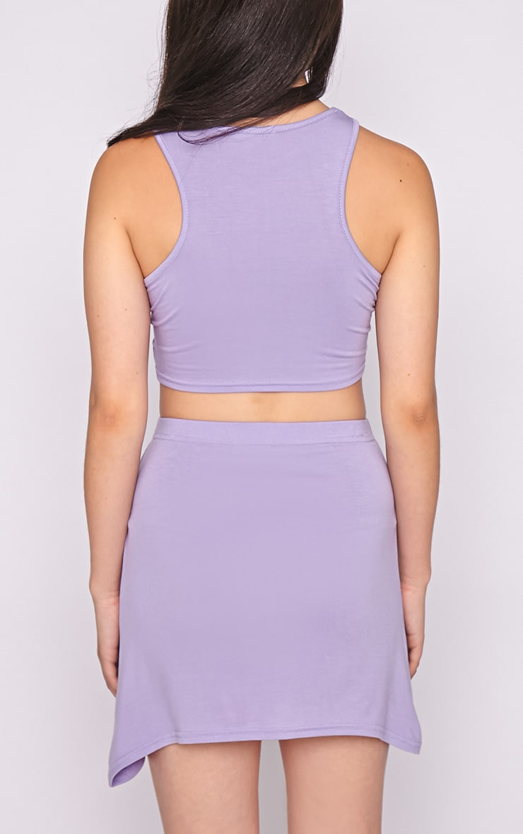 Madelyn Lilac Crop Top 2