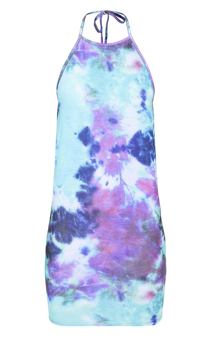 Purple Tie Dye Bodycon Dress 3