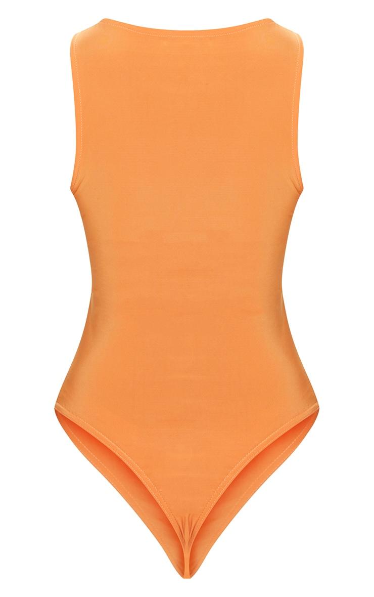 Tangerine Slinky Underbust Cut Out Thong Bodysuit 4