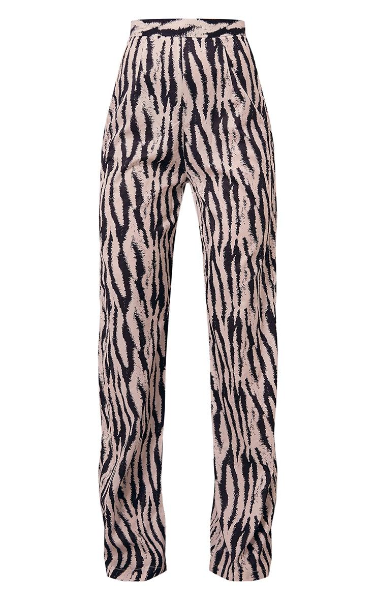 Black Zebra Print Wide Leg Pants 5