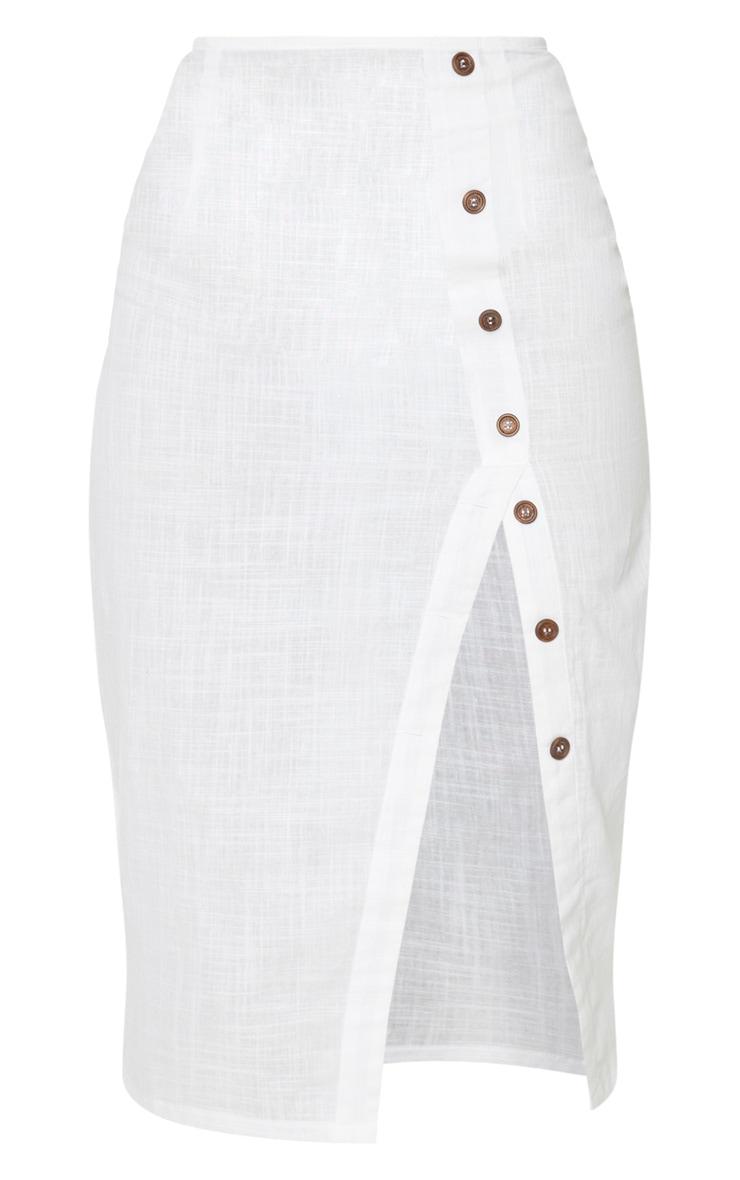 White Button Down Beach Skirt 3