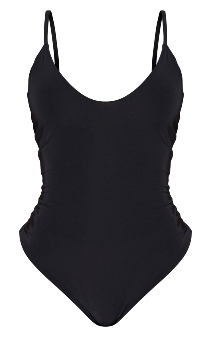 Shape Black Slinky Double Layer Bodysuit 5