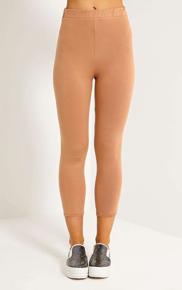Basic Camel Cropped Jersey Leggings 2