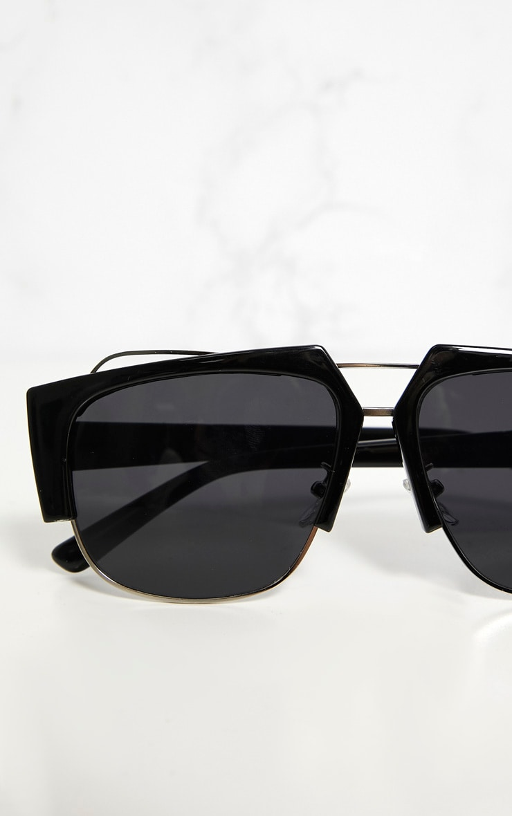 Black Slanted Sunglasses 4