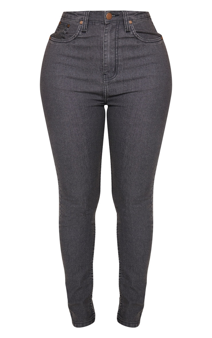 Shape Charcoal High Waisted Skinny Jean 3