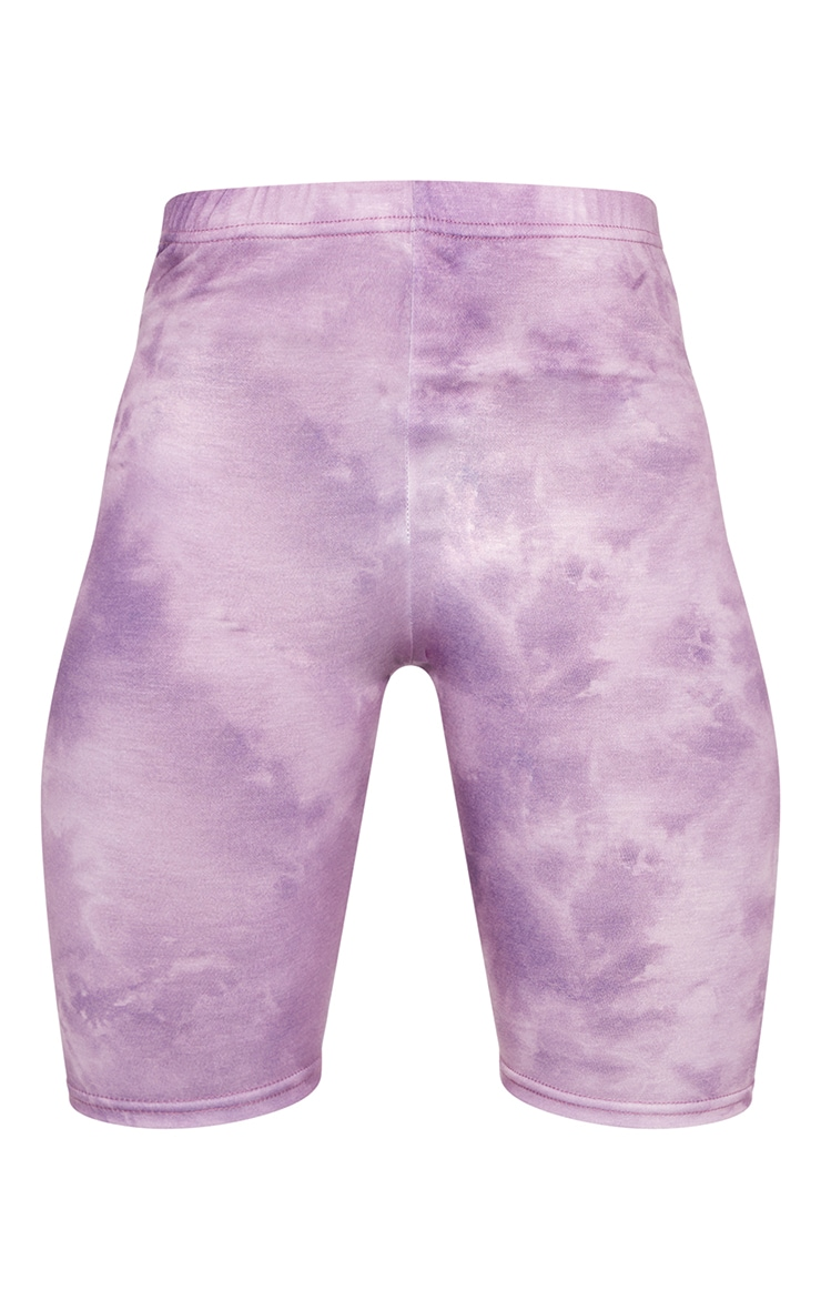 Lilac Tie Dye Bike Shorts 6