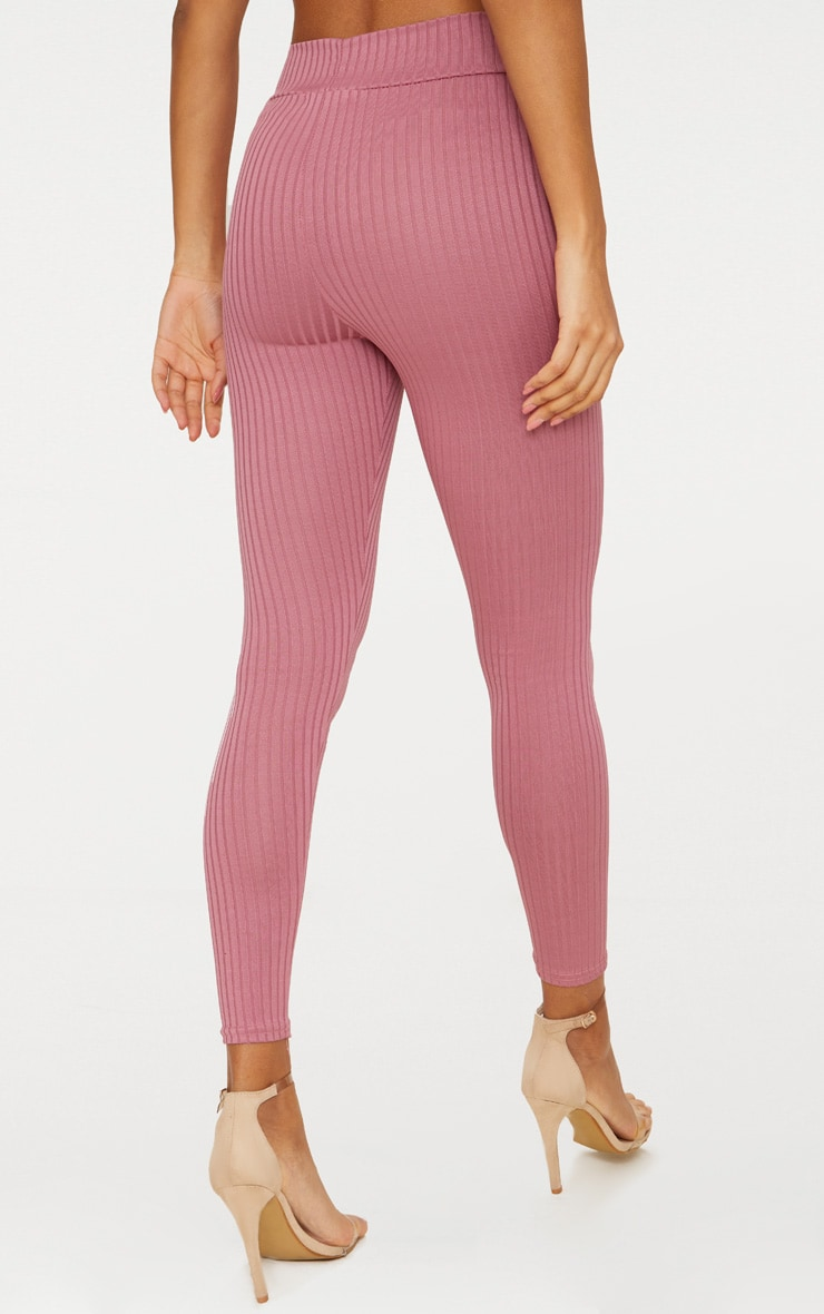 Harlie Rose Ribbed High Waisted Leggings 4