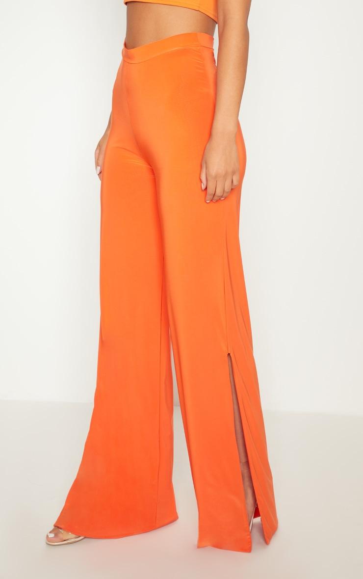 Tangerine Side Split Slinky Trousers 2
