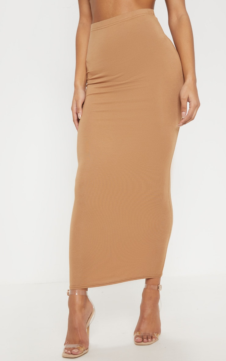 Chocolate, Black, Camel Basic Jersey Midaxi Skirt 3 Pack 7