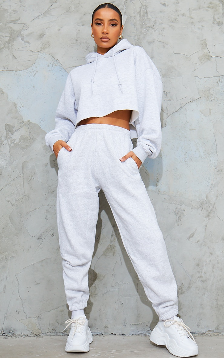 Ash Grey Sweat Track Pants 1