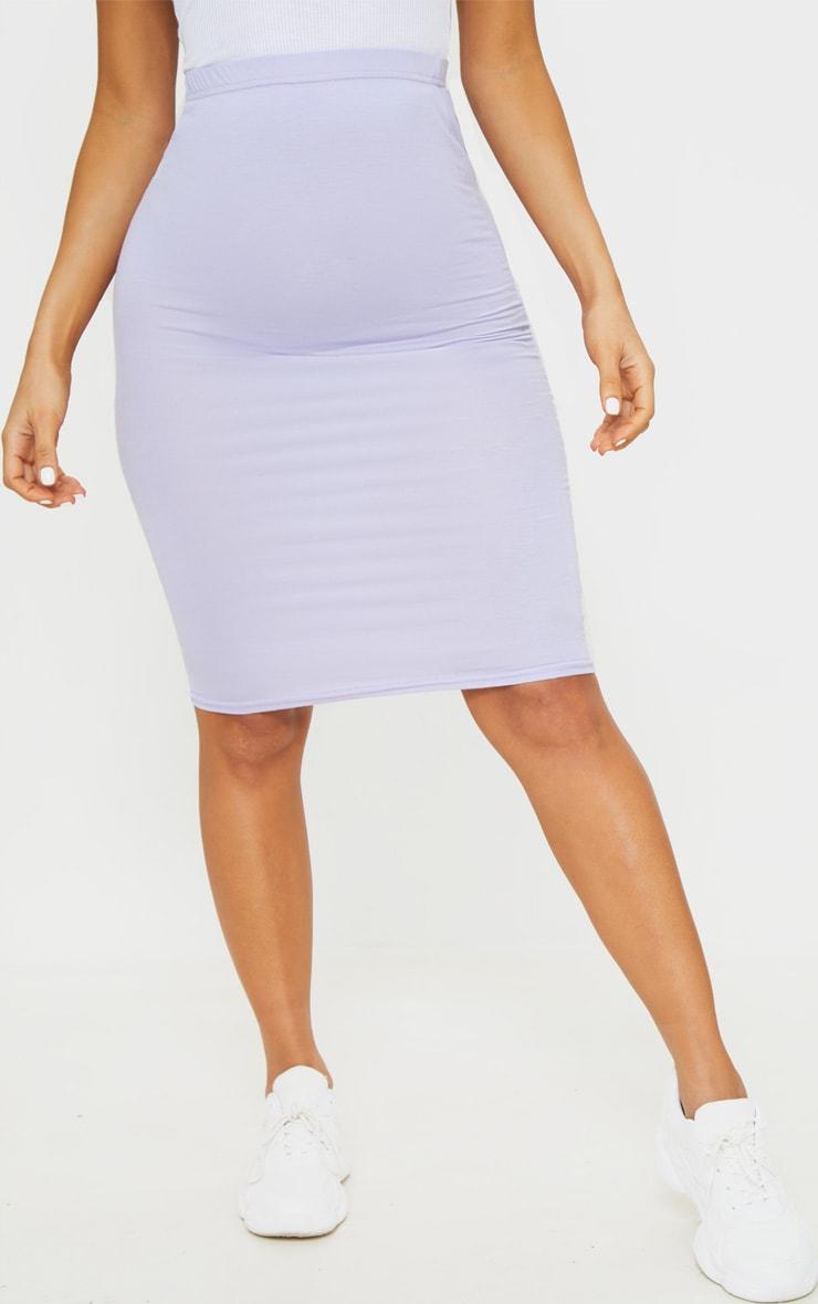 Lilac Basic Midi Skirt 2