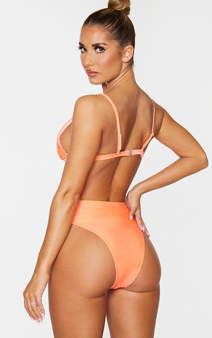 Coral Mix & Match Itsy Bitsy Bikini Top 2