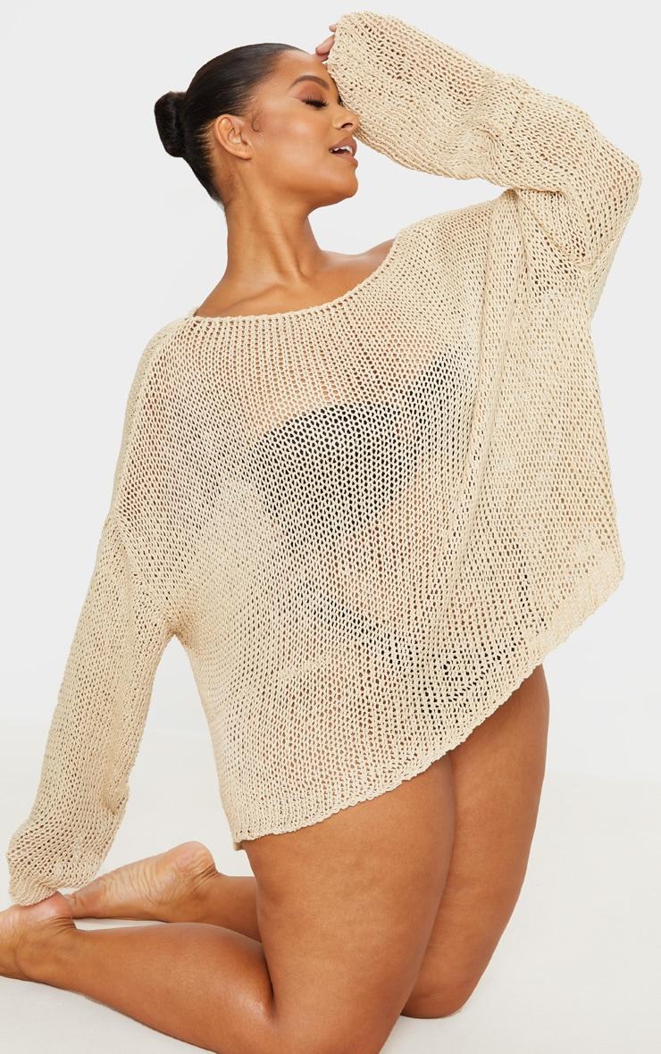 Plus Stone Fisherman Knit Sweater 3