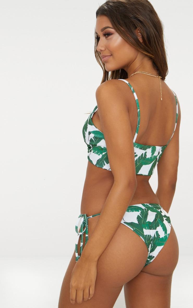 White Banana Leaf Multi Tie Bikini Top 3