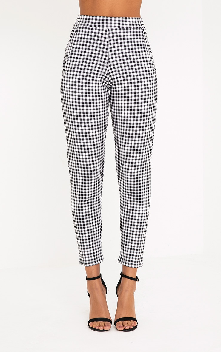 Sage Black Gingham Trousers 2