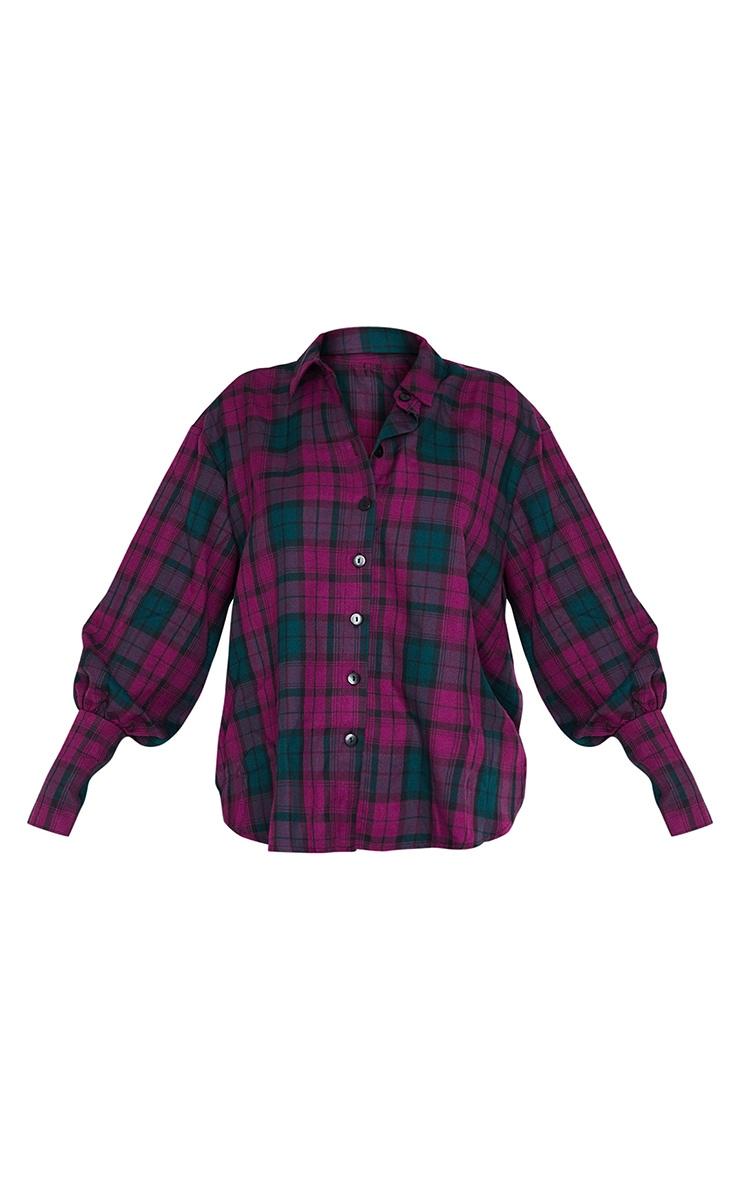 Maroon Checked Shirt 5