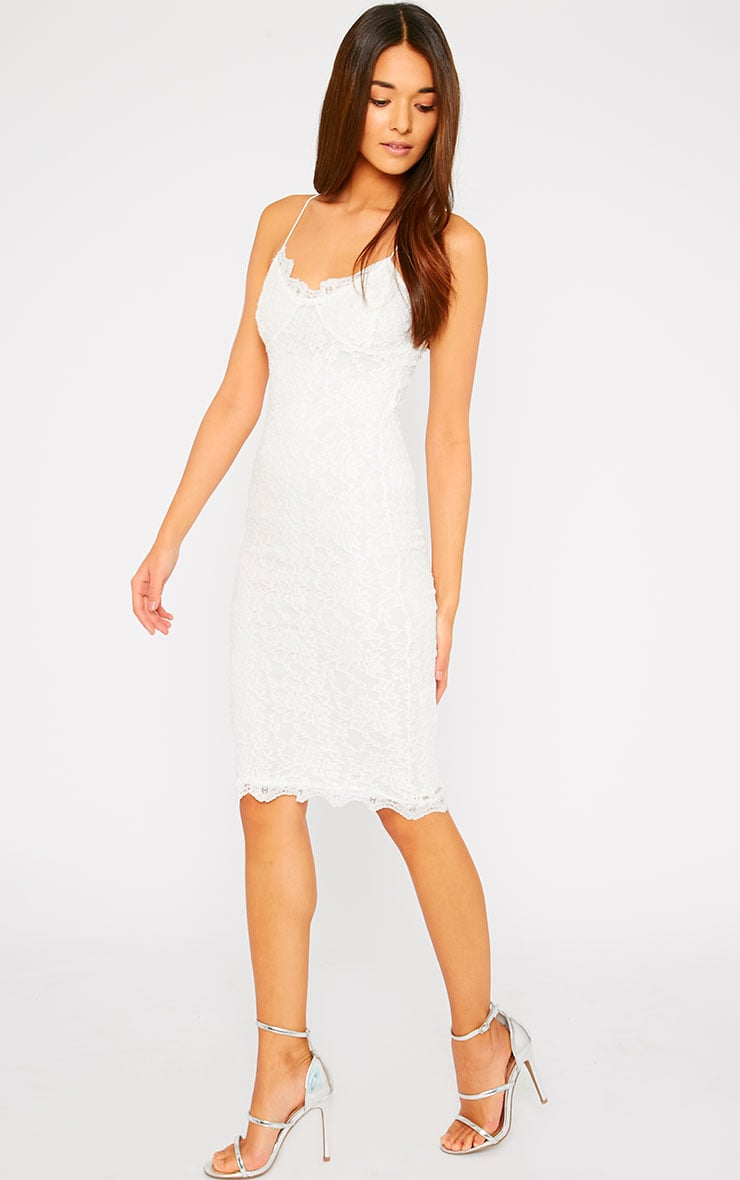 Isabelle Cream Lace Midi Dress 4