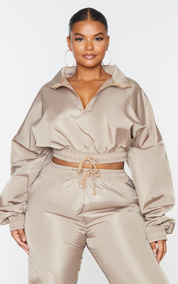 Plus Camel Shell Half Zip Jacket 3