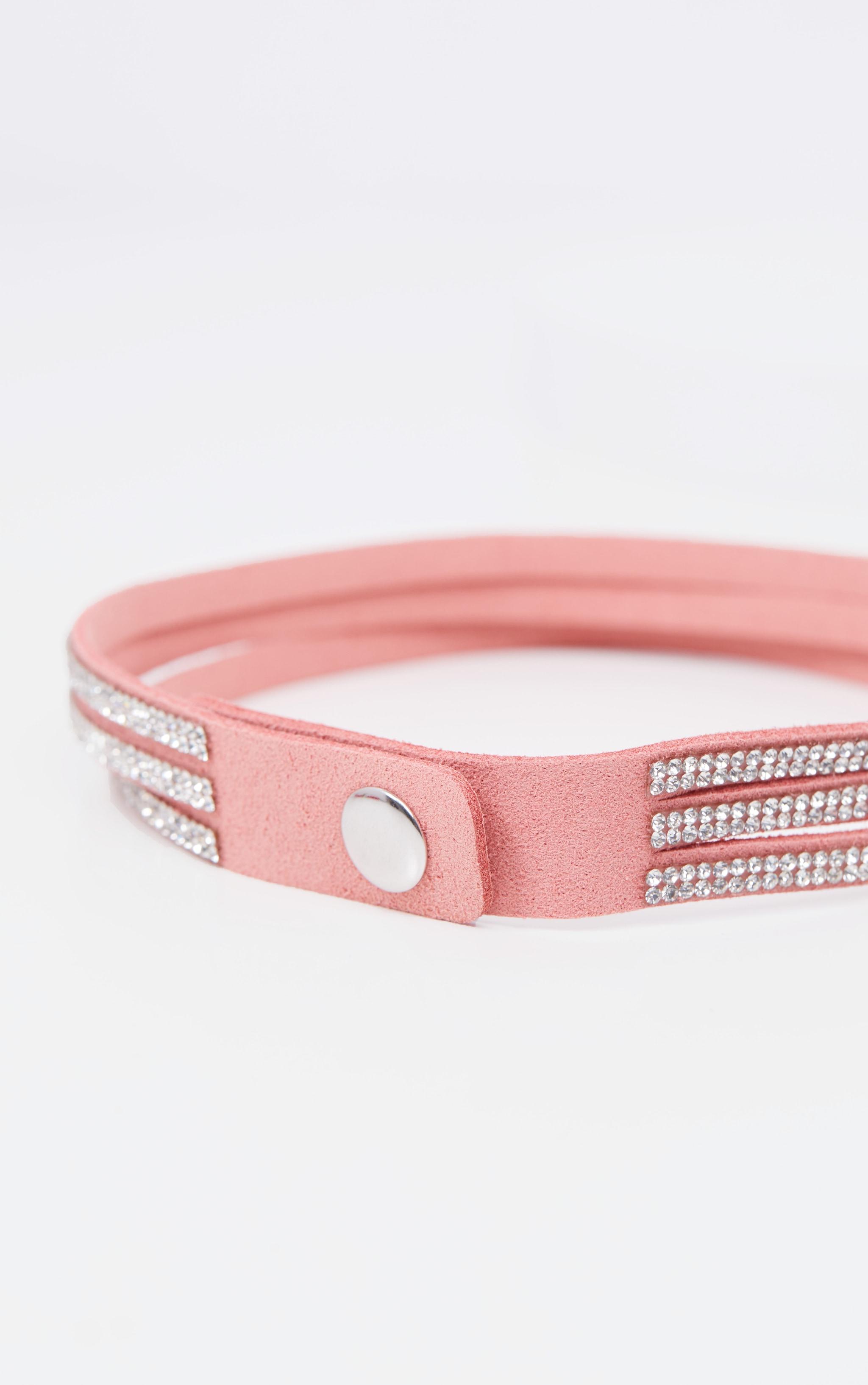 Pink Diamante Choker 4