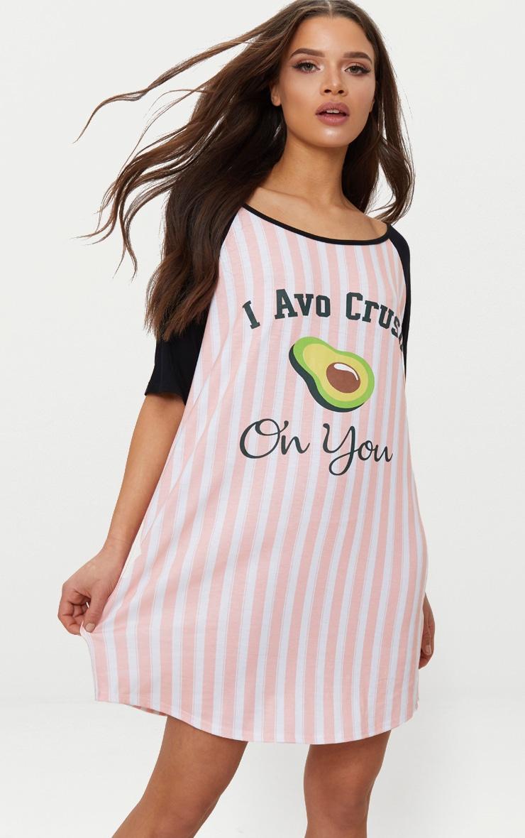 Pink Stripe AVOCRUSH Nightie 4