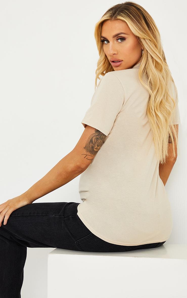 PRETTYLITTLETHING Maternity Stone T Shirt 2