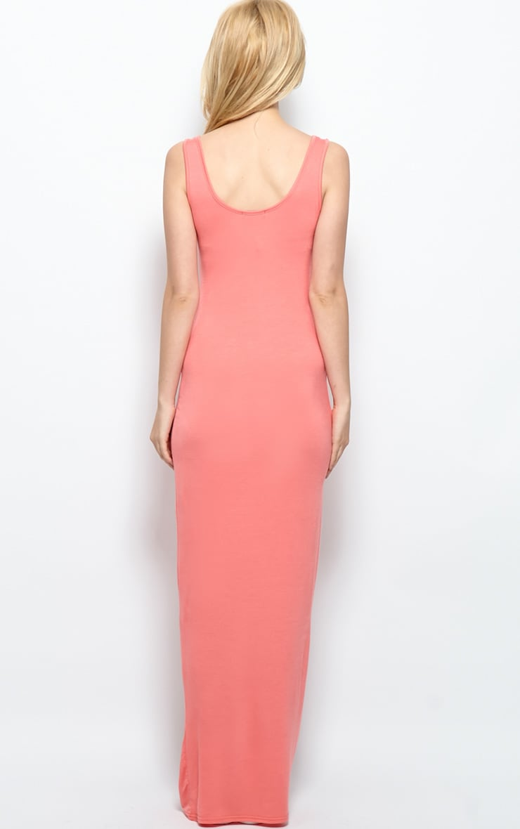 Zoe Coral Jersey Maxi Dress 2