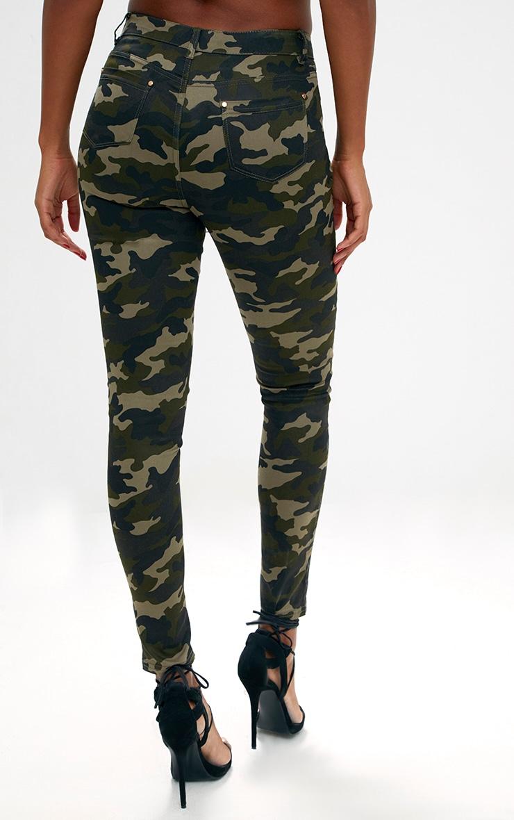 Khaki Camouflage Skinny Jeans 4