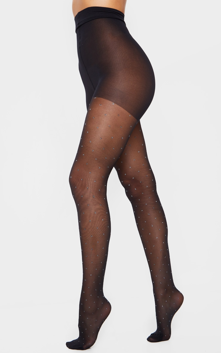 Glitter Dot Print Tights 2