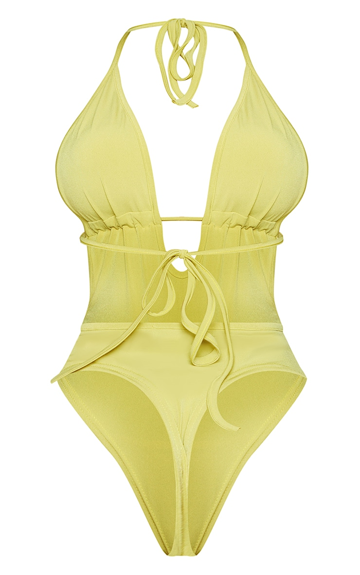 Shape Lime Slinky Cut Out Bodysuit 6