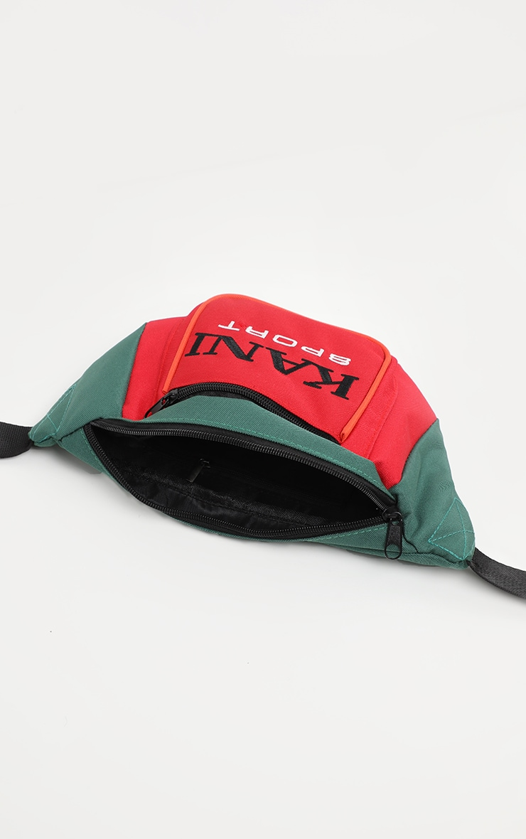 KARL KANI Red Colour Block Fanny Pack 4