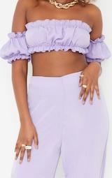 Lilac Frill Detail Cut Out Wide Leg Jumpsuit 4