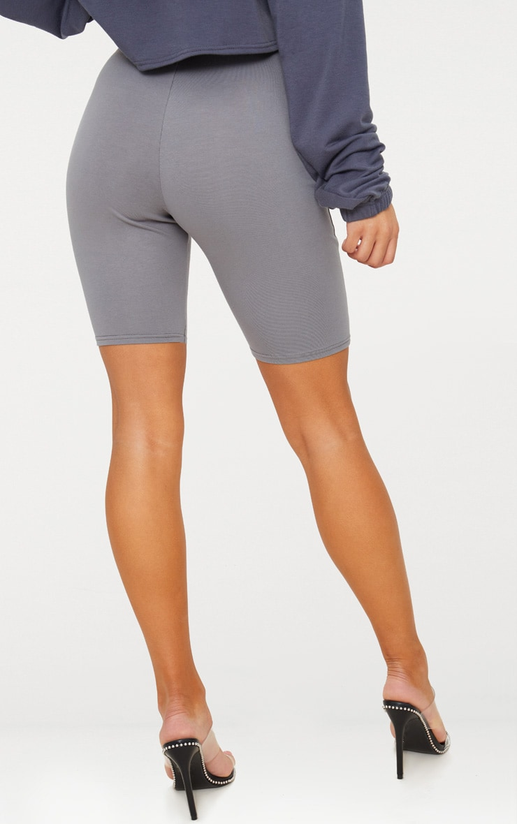 Short legging en coton stretch gris ardoise 5