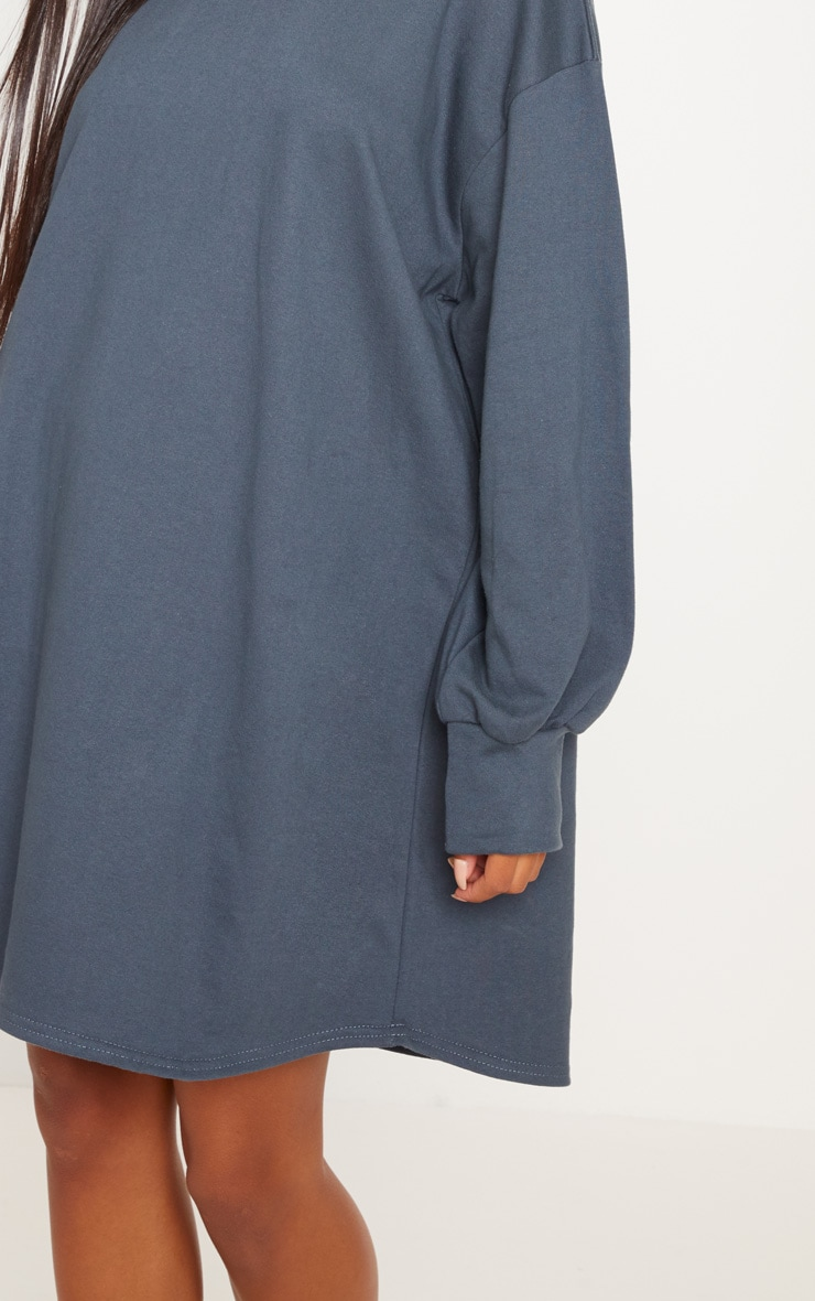 Charcoal Oversized Sweater Dress 5