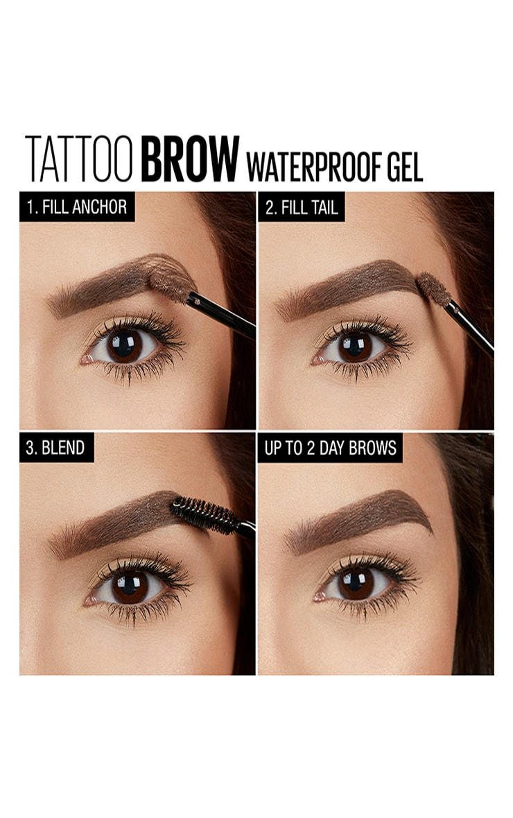 Maybelline Tattoo Brow Waterproof Gel 04 Medium Brown 4