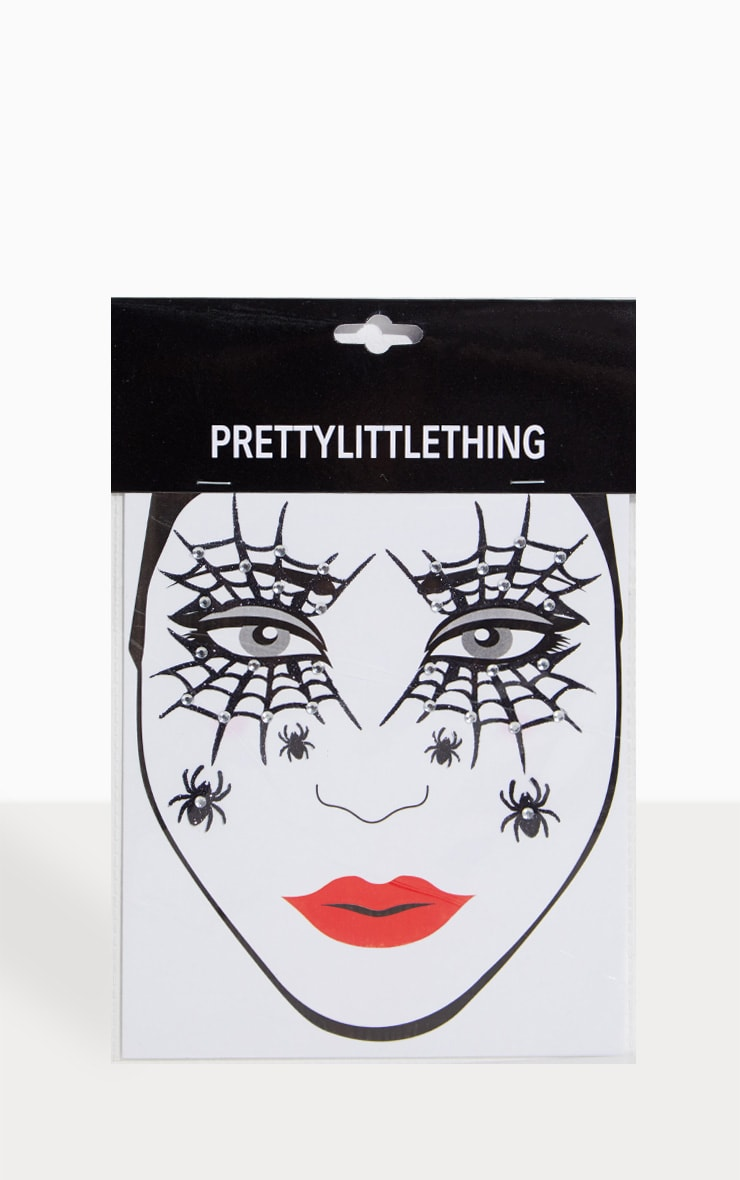 PRETTYLITTLETHING Diamante Cobweb Halloween Stickers 2