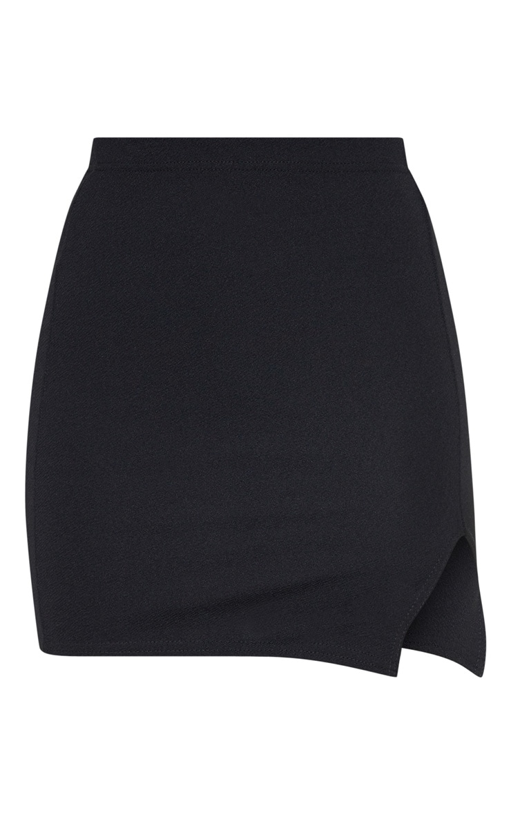 Jemmia Black Split Mini Skirt  3